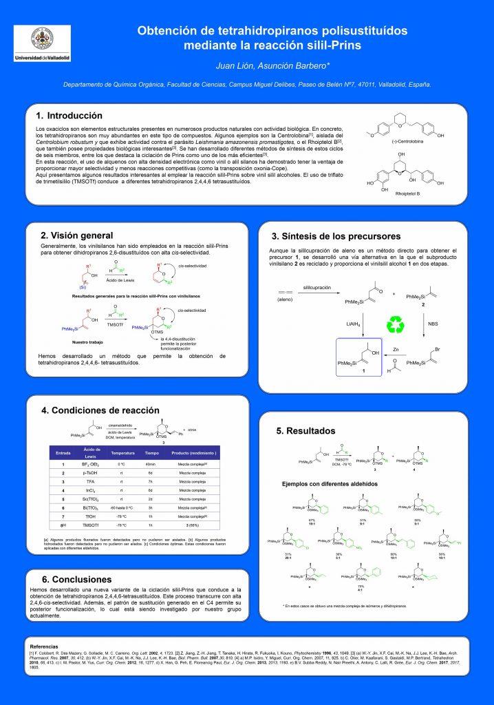 Obtención de tetrahidropiranos polisustituídos mediante la